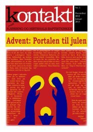 'Kontakt' for december 2012 - januar 2013. - Hjørring Baptistkirke