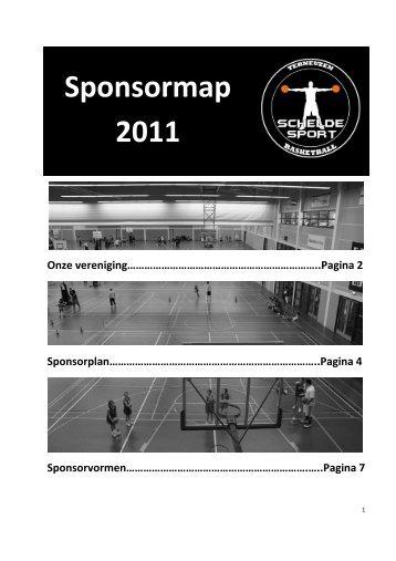 Voor u ligt de digitale sponsormap van Scheldesport