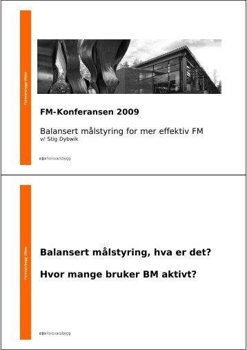 Balansert målstyring, hva er det? Hvor mange bruker BM aktivt?