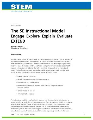 the 5e model of instruction
