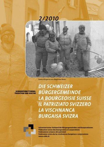 2010-2 Tradition und Kultur - Schweizerischer Verband der ...