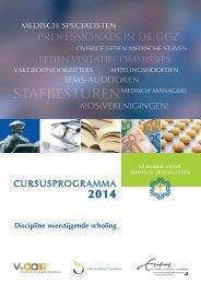 Cursusprogramma Academie voor Medisch Specialisten 2014