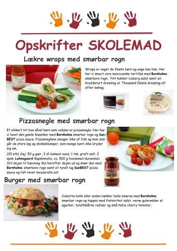 Opskrifter SKOLEMAD - Nordlie Food A/S
