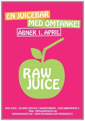 Tryk her for at downloade Menukortet - RAWjuice