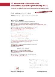 und Deutscher Nachlassgerichtstag 2013 - Bayerischer ...