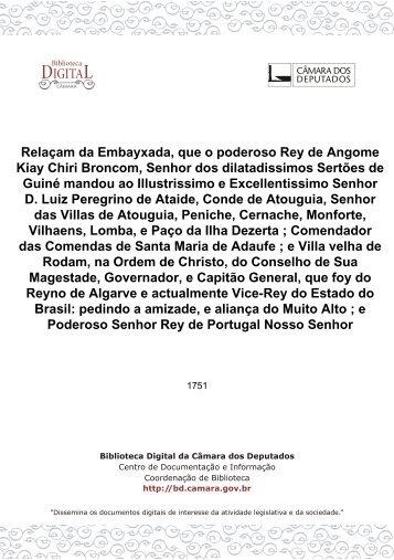 Relaçam da Embayxada, que o poderoso Rey de Angome Kiay ...