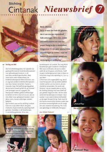 Nieuwsbrief 7 - Stichting Cintanak
