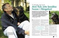 Ami fick inte besöka husse i fängelset - Hans Karlsson
