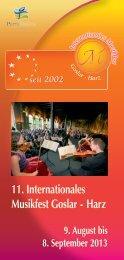 11. Internationales Musikfest Goslar - Harz
