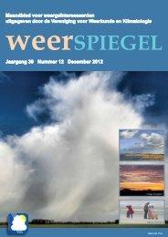 Weerspiegel van december 2012 downloaden - Vereniging voor ...