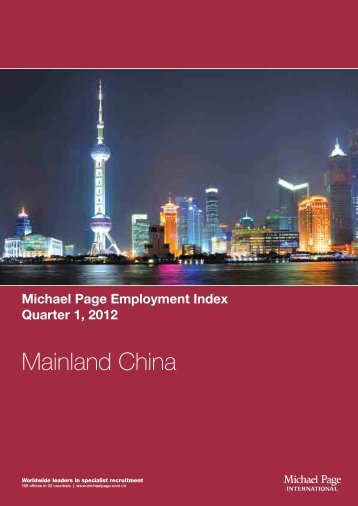 China Employment Index - Quarter 1, 2012 - Michael Page