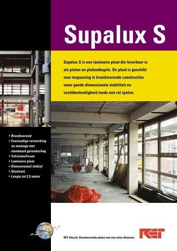 Supalux S is een laminaire plaat die leverbaar is als ... - Megamat