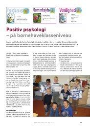 Læs om positiv psykologi på børnehaveklasseniveau - Helle Fisker