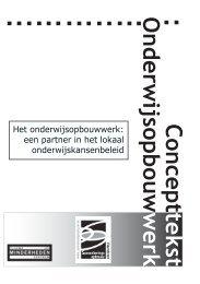 concepttekst Onderwijsopbouwwerk - Samenlevingsopbouw
