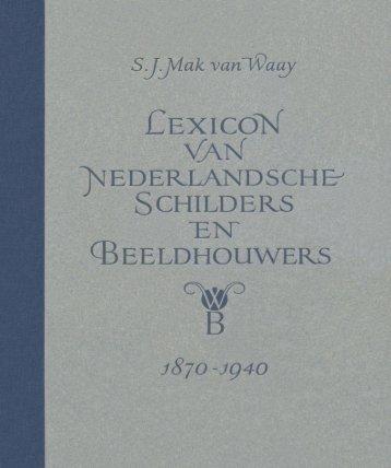 Lexicon van Nederlandsche Schilders en ... - Gallery Dorant