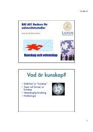 2b) Presentation. Kunskap och vetenskap 15/6 - Filosofiska ...