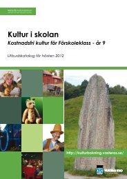 Kultur i skolan - Utbudskatalog ht 2012 - Västerås kulturcentrums