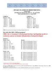 OBS: der er kommet rytterkategorisering i springning og ... - Distrikt 12