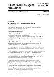 Föreskrift om säkerhet, fredstida krishantering och ... - Riksdagen