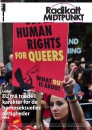 EU må træde i EU må træde i karakter for de ... - Radikale Venstre