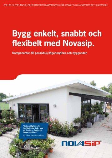 Bygg enkelt, snabbt och flexibelt med Novasip. - Kenpo Sandwich AB