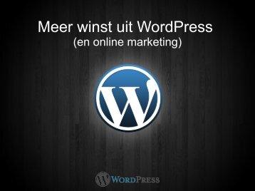 """""""Meer winst uit WordPress"""" in PDF formaat - Pronamic"""