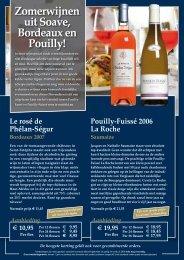 zomerse wijnen - Wijnkoperij van Bilsen