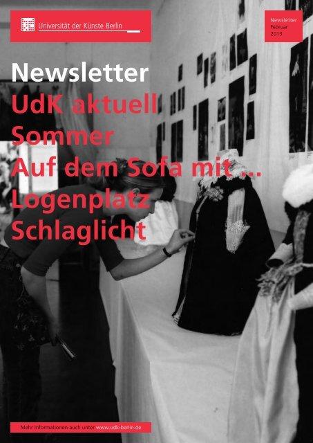 Newsletter Februar 2013 - Universität der Künste Berlin