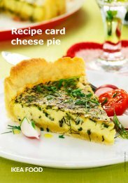 Recipe card cheese pie