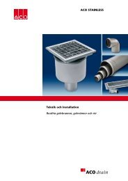 Teknisk manual Rostfritt - ACO Nordic AB