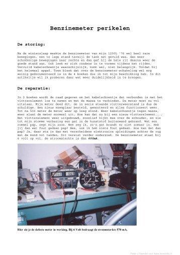 Benzinemeter perikelen - Keversite.NL