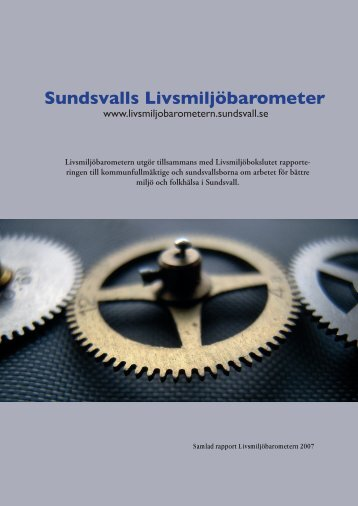 God bebyggd miljö - Sundsvalls Livsmiljöbarometer