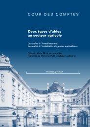 Rapport - Cour des comptes