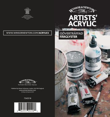 Artists' Acrylic Colour och medium - Colart