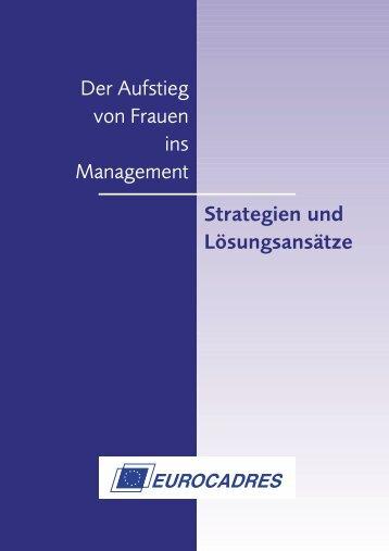 Der Aufstieg von Frauen ins Management Strategien ... - Eurocadres