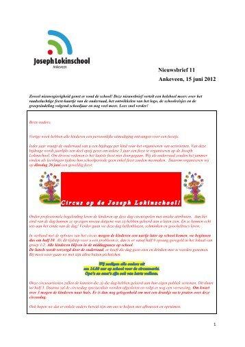 Nieuwsbrief 11 Ankeveen, 15 juni 2012 - Kanscholen