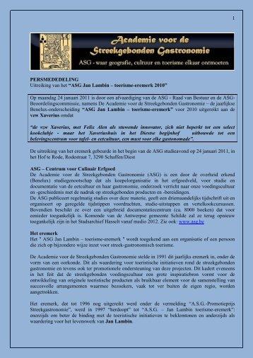 ASG-prijs - Xaverius
