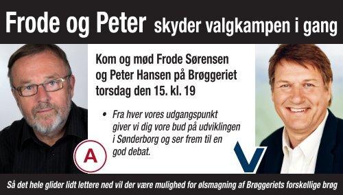 Peter Hansen og jeg skyder valgkampen i gang - Frode Sørensens ...