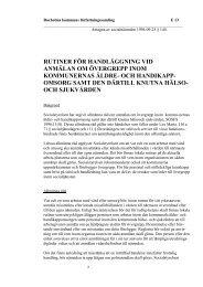 rutiner för handläggning vid anmälan om övergrepp inom ...