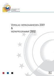 verslag werkzaamheden 2001 werkprogramma 2002 - Europa