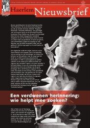 Nieuwsbrief juni 2009 - Historische Vereniging Haerlem