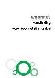 Handleiding website Woonnet Rijnmond
