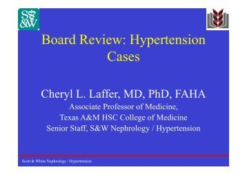 Board Review: Hypertension Cases - Healthcare Professionals