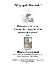 "Så syng da Danmark!"" Manne Østergaard - Brædstrup Kirke"