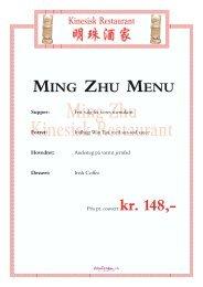 A la Carte - Ming Zhu kinesisk restaurant