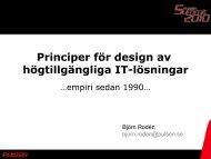 Principer för design av högtillgängliga IT-lösningar, Björn ... - Pulsen