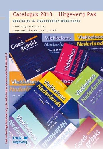 klik hier voor onze catalogus 2013 - Uitgeverij Pak