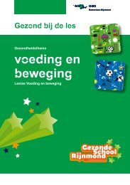 Lestassen Voeding en beweging GSR - GGD Rotterdam-Rijnmond