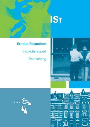 Inspectierapport Exodus Rotterdam - Inspectie Veiligheid en Justitie