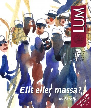 Elit eller massa? - Lunds universitet - ny startsida
